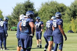 Seahawks O line prepares for drills